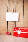 空白の贈り物 — ストック写真