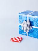 Gift blue — Stock Photo