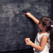 Blackboard pink — Stock Photo