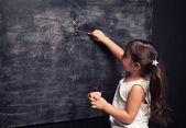 Blackboard pink — Stock Photo