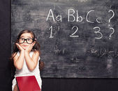 Blackboard squint — Stock Photo