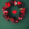 Stock Photo: Beautiful evergreen christmas wreath