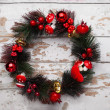 Stock Photo: Evergreen christmas wreath