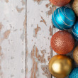 Colorful new christmas ornaments — Stock fotografie