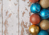 Colorful new christmas ornaments — Stock Photo