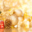 Christmas background with various ornaments — Stock Photo #34166463