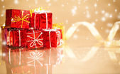 Small gift packages for christmas — Stock Photo