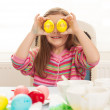 Girl with easter eggs — Stock Photo #42278531
