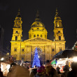 Stock Photo: Christmas fair before BasilicSquare at christmastime