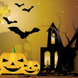 Stock Vector: Helloween background