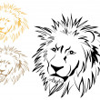 Stock Vector: Lion tatoo