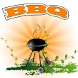 Stock Vector: BBQ, background