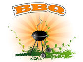 BBQ, background — Stock Vector