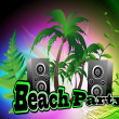 Beach party — Stock Vector