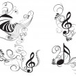 Music key notes — Image vectorielle