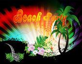 Beach party — Stock Vector