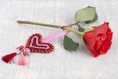 用手工制作的心玫瑰 — 图库照片