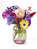 Little bouquet of garden flowers — Stock Photo
