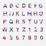 Flag Vector Font — Stock Vector #13486780