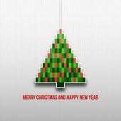 纸的圣诞树 — 图库矢量图片