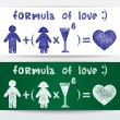 Formula of love - Stockvectorbeeld