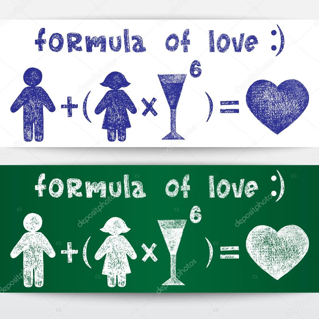 Sketchy illustration. Formula of love  Stock Vector #15731263