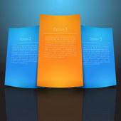 Vector paper stickers — Stock Vector