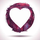 Grunge heart background — Stock Vector