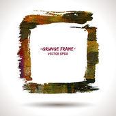 Trendy grunge vector frame — Stock Vector