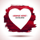 Grunge heart background — Wektor stockowy