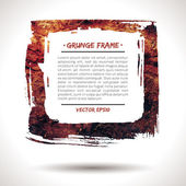 Trendy grunge vector frame — Stock Vector