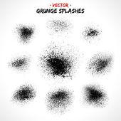 Grunge black spashes — Stock Vector