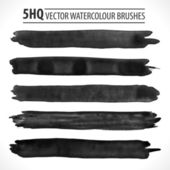 Set of watercolor brushes — Stock Vector
