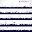 Set of grunge vector borders — Stock Vector #23637659