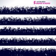 Set of grunge vector borders — Stock Vector #23637697