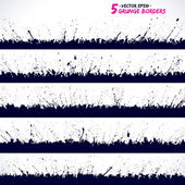 Set of grunge vector borders — Stock Vector
