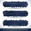Set of vector grunge banners — Stock Vector #24600435