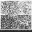 Set of vector seamless textures — Stock Vector