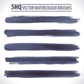 Set of watercolor vector brushes — Stock Vector