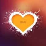 XMOD GRUNGE HEART BACKGROUND 005 — Stock Vector