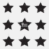 Grunge vector stars — Stock Vector