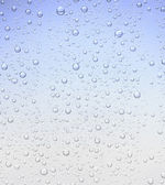Blue bubble droplet texture background — Stock Photo