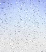 蓝色泡沫液滴纹理背景 — 图库照片