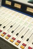 Analogue control sound mixing board — Stock Photo