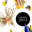 2013 calendar cover page — Stock Photo
