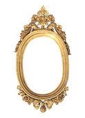 Golden oval shape frame — Stock Photo