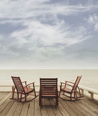 Beach chair balcony — Stock Photo