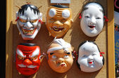 Japanese masks — Stock Photo