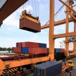 Container operation in port — Stock Photo #13144643