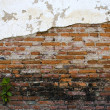 Destruction of brick wall background — Stockfoto #19402125